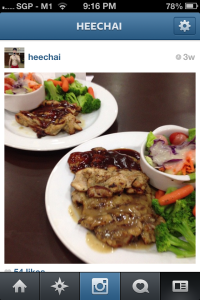triple chicken chop with vegetable, heechai, heechai.com, Singapore fitness blogger