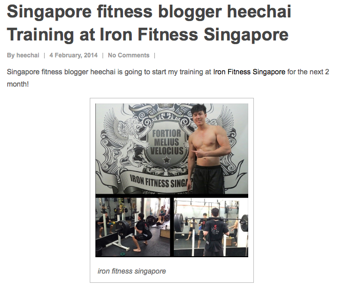 Review on Iron Fitness Singapore