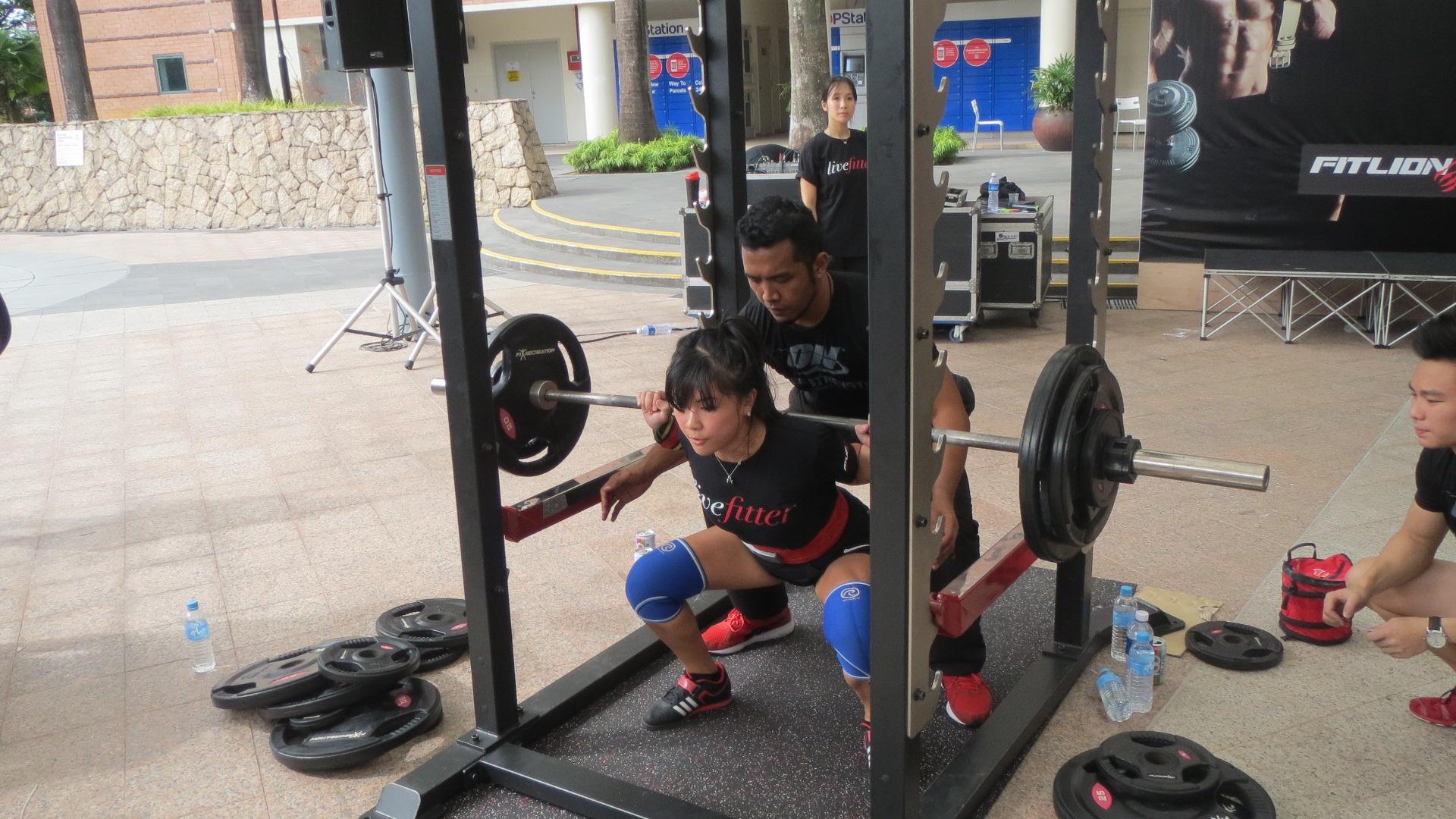 livefitter singapore squat challenge